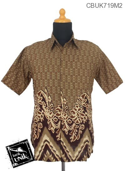 Baju Batik Kemeja  Motif Abstrak Rang Rang Kembang Mekar