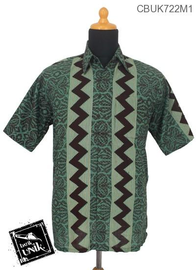 Baju Batik Kemeja Motif Rang Rang Vertikal