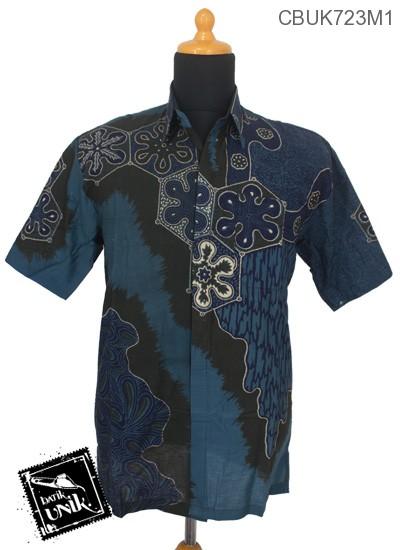 Baju Batik Terbaru  Kemeja Katun Motif Ubur-Ubur Laut