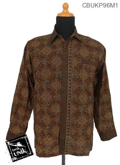 Kemeja Batik Terbaru  Panjang Katun Motif Capucino
