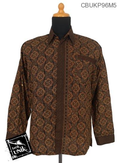 Kemeja Batik Panjang Katun Motif Capucino