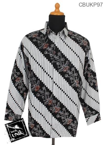 Kemeja Batik Panjang Motif Parang Kembang
