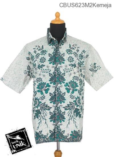 Baju Batik Sarimbit Kemeja Motif Mawar Melati