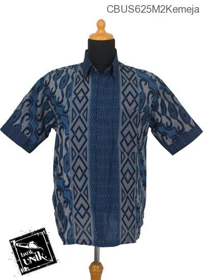 Baju Batik Sarimbit Kemeja Katun Motif Baris Gelombang