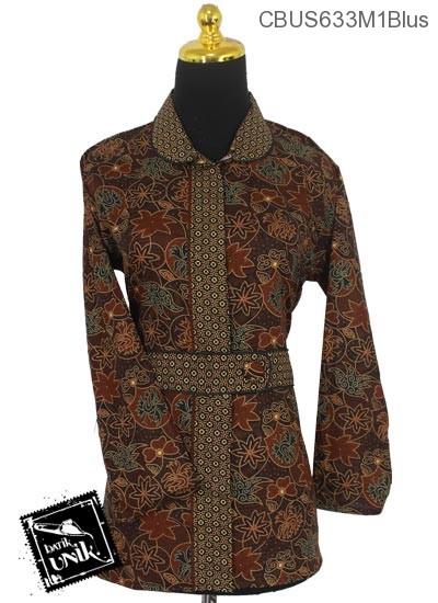 Baju Batik Terbaru  Sarimbit Blus Pekalongan Motif Capocino Tumpal