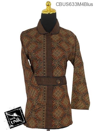 Baju Batik Sarimbit Blus Pekalongan Motif Capocino Tumpal