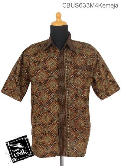 Baju Batik Sarimbit Kemeja Pekalongan Motif Capocino Tumpal