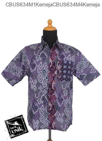Baju Batik Sarimbit Blus Pekalongan Motif Mega Mendung Abstrak Tumpal