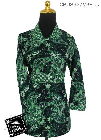 Baju Batik Sarimbit Blus Katun Motif Tifa Tumpal Truntum