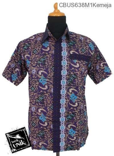 Baju Batik Terbaru  Sarimbit Kemeja Katun Motif Ombak Mega Mendung