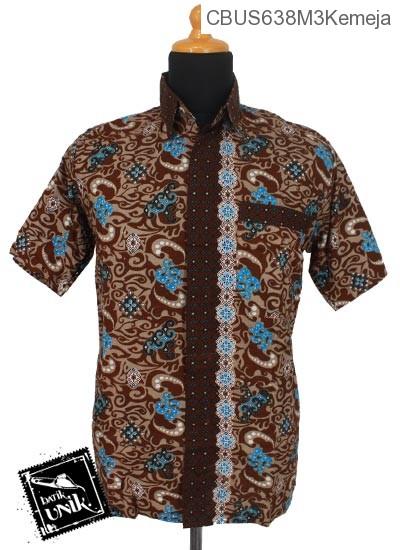 Baju Batik Sarimbit Kemeja Katun Motif Ombak Mega Mendung