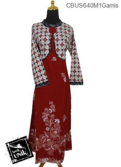 Baju Batik Terbaru  Sarimbit Gamis Pekalongan Motif Kawung Picis Kembang Sedap Malam