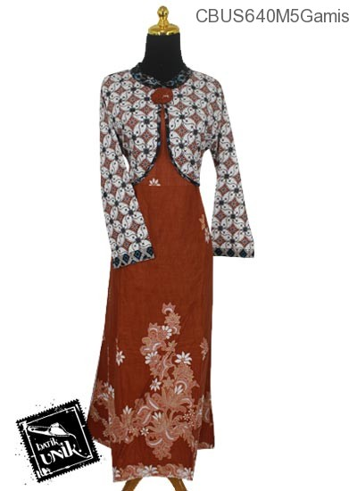 Baju Batik Sarimbit Gamis Pekalongan Motif Kawung Picis Kembang Sedap Malam