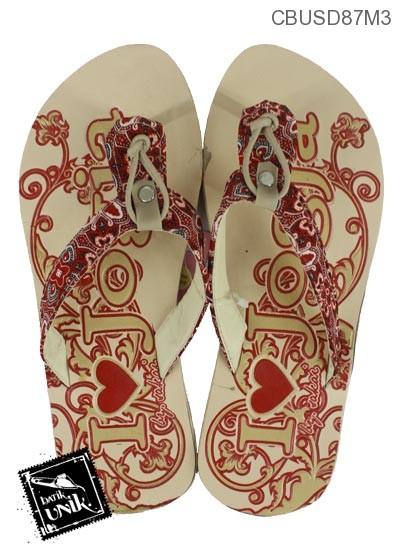 Sandal Etnik Batik Jogja Motif Tugu Jogja
