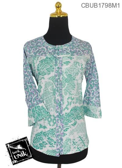 Blus Batik Tanggung Motif Mega Mendung Spiral