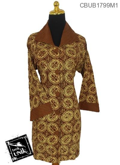 Baju Batik Blus Panjang Pekalongan Motif Kontemporer Abstrak