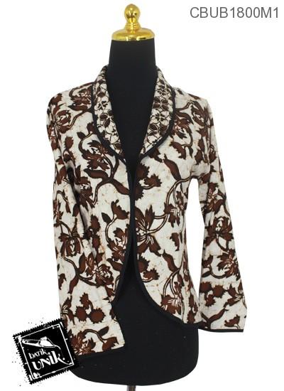 Baju Batik Terbaru  Bolero Bolak-Balik Motif Kawung Sogan