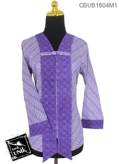 Baju Batik Terbaru  Blus Panjang Motif Parang Kembar