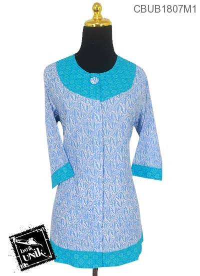 Blus Batik Terbaru  Tanggung Motif Parang Warna Soft