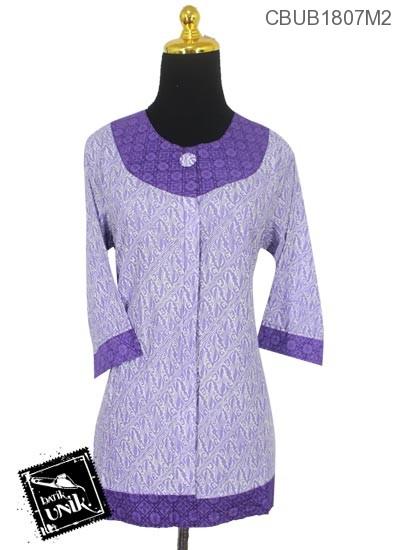 Blus Batik Tanggung Motif Parang Warna Soft