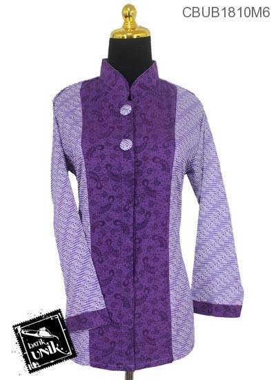 Baju Batik Blus Panjang Katun Kain Embos Motif Parang