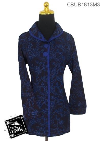 Blus Batik Panjang Katun Motif Amoeba Warna Kontemporer