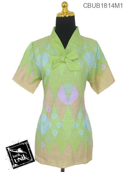 Blus Batik Terbaru  ABG Pendek Motif Rang Rang Warna Soft