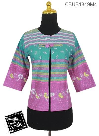 Rompi Batik ABG Motif Tumpal Bunga Warna