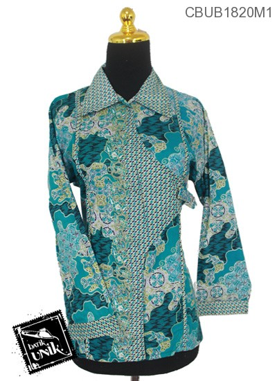 Baju Batik Terbaru  Blus Panjang Pekalongan Motif Sekar Jagad Warna