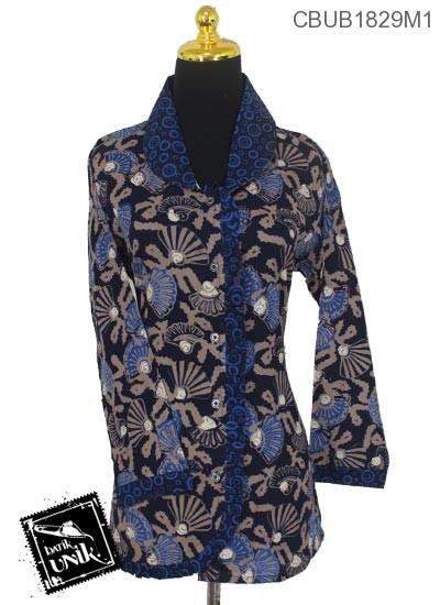 Blus Batik Panjang Motif Godhong Asem