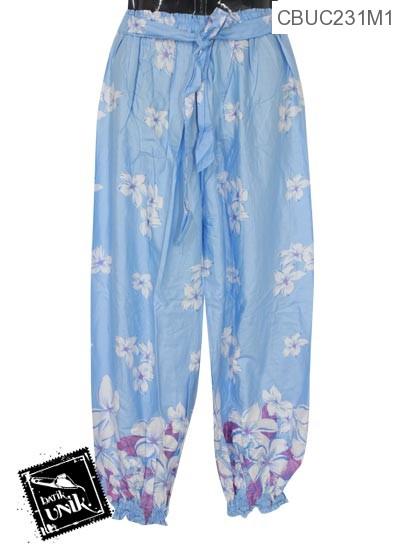 Celana Aladin Motif Bunga Warna Cantik