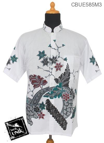 Kemeja Batik Koko Motif Bunga Sedap Malam