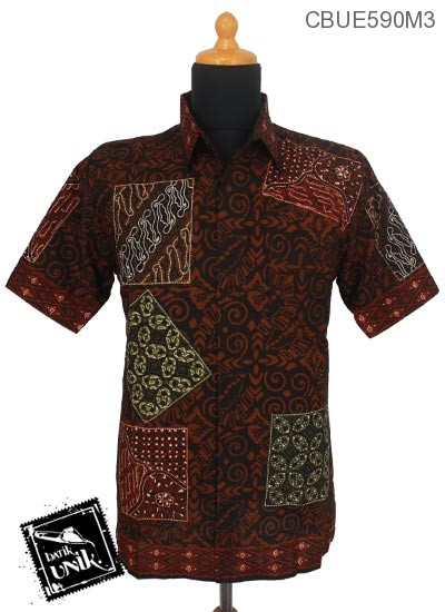 Kemeja Batik Ekslusive Pekalongan Motif Hitam Pola