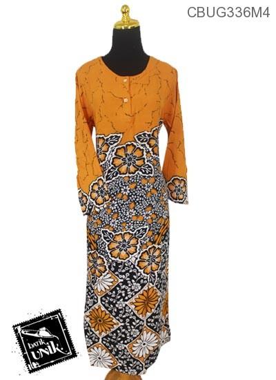 Longdress Batik Pekalongan Motif Bunga Sepatu Kekwa