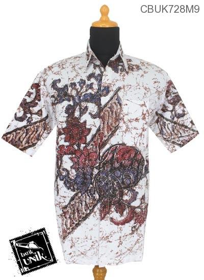 Baju Batik Kemeja Remekan Motif Kawung Godhong Lompong