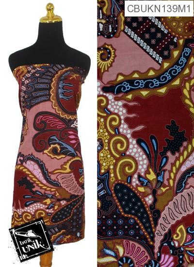 Kain Batik Terbaru  Printing Motif Kontemporer Warna