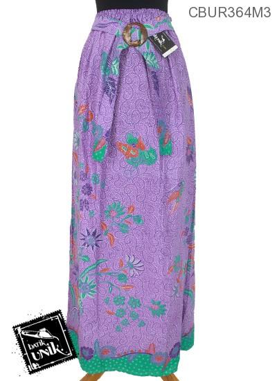Rok Batik Motif Abstrak Bunga Mekar