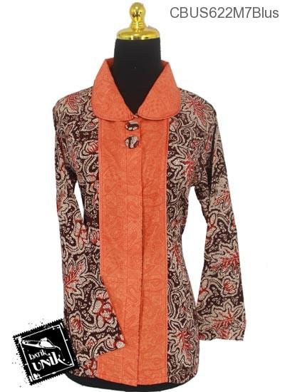 Baju Batik Sarimbit Blus Motif Godhongan Tumpal