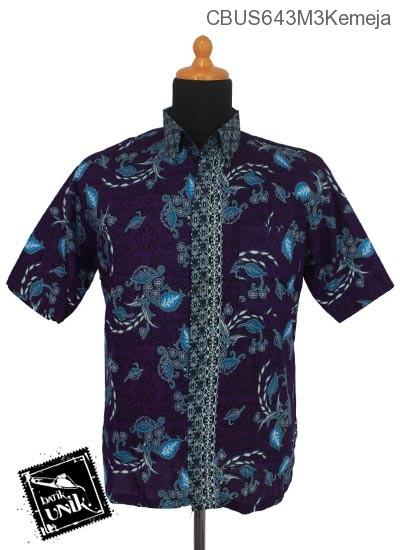 Baju Batik Sarimbit Kemeja Motif Abstrak Godhong Tetehan