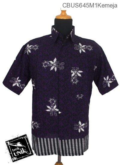 Baju Batik Sarimbit Kemeja Motif Abstrak Kembang Kemuning