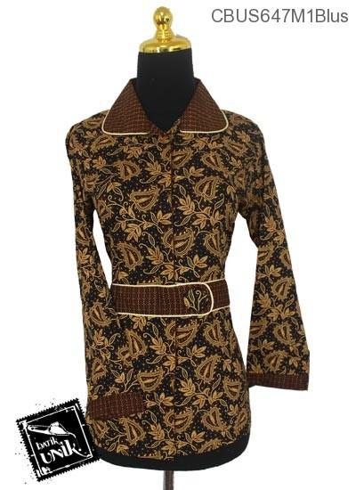 Baju Batik Sarimbit Blus Motif Capucino