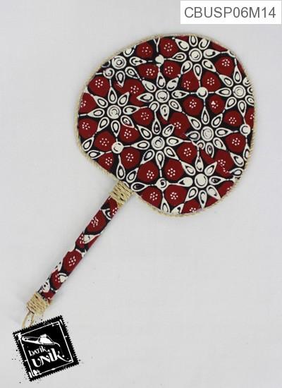 Souvenir Kipas Batik Love Motif Batik Kontemporer