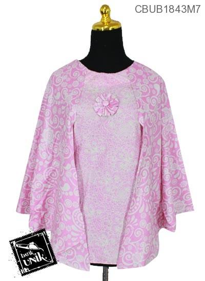 Baju Batik Blus Kelelawar Motif Kupu Spiral Soft