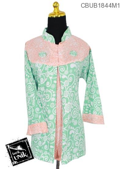 Blus Batik Terbaru  Tanggung 7/8 Motif Bunga Kupu-Kupu Warna Kombinasi
