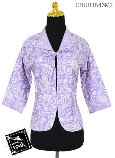 Bolero Batik Bolak-Balik Motif Bunga Kupu-Kupu Warna Kombinasi