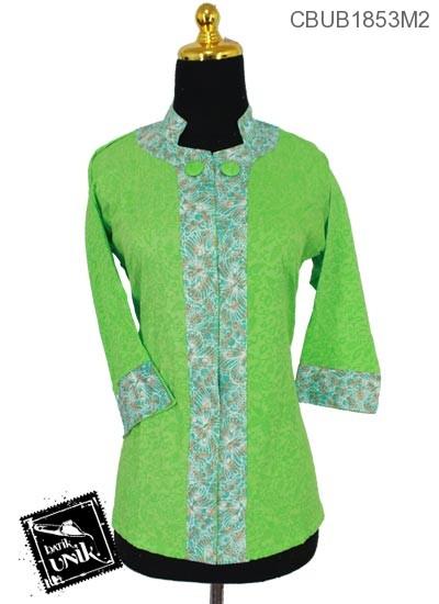 Baju Batik Blus Tanggung 7/8 Motif Bunga Kupu-Kupu Warna