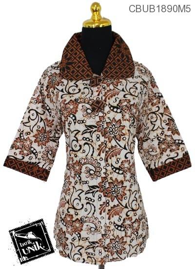 Blus Batik Pendek Motif Kotemporer Godhong