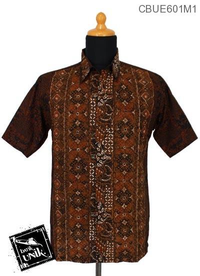 Baju Batik Terbaru  Kemeja Ekslusive Motif Kawung Klasik