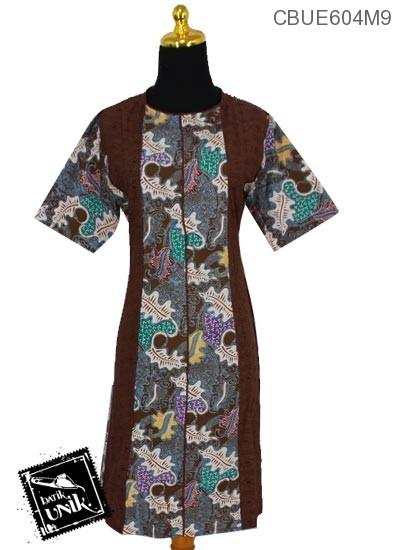 Dress Ekslusive Kombinasi Motif Sekar Jagad Warna