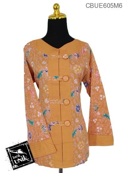 Baju Batik Pesta Motif Warna Warni Bunga